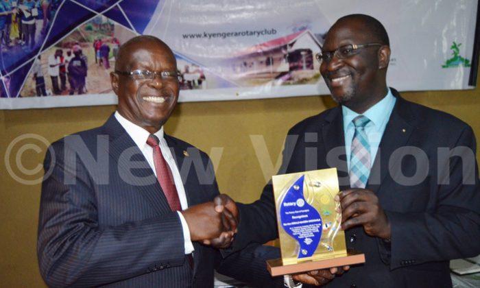 Kyengera Rotary Club honours former finance minister Ssendaula