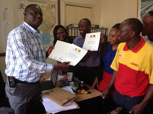 NUCAFE receives Omukwano certificate from Caffee River for long standing business relationship.